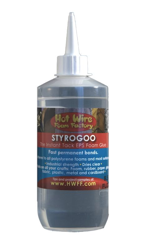 028SG-8.5_Product-Strogop- The Instant Tack EPS Foam Glue! For all your craft and hobby needs. Ideal for permanently adhering foam, foam rubber, paper, glass, fabric, wood, plastic, metal and cardboard. Choose from 3 sizes.