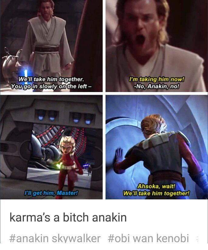 Image Result For Obi Wan Clone Wars Meme Star Wars Jokes Star