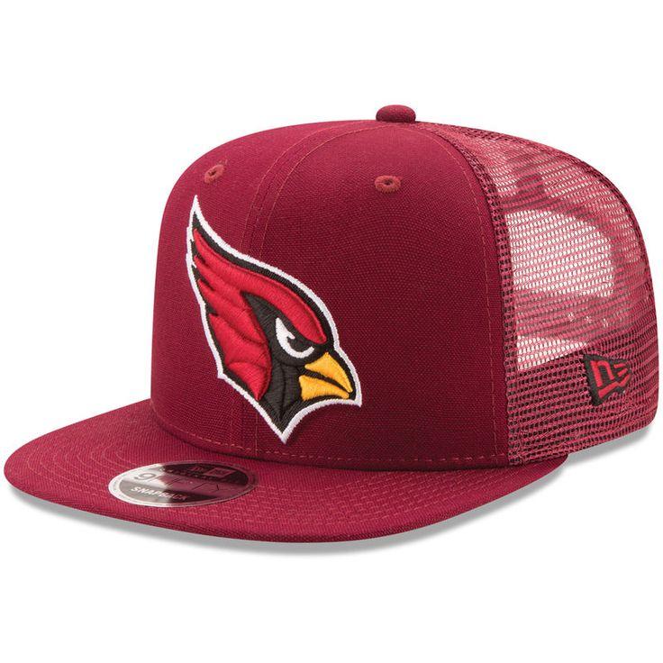 Arizona Cardinals New Era Trucker Patched 9FIFTY Snapback Adjustable Hat - Cardinal
