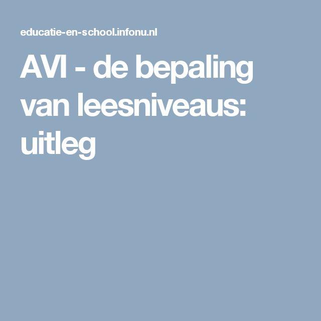 AVI - de bepaling van leesniveaus: uitleg