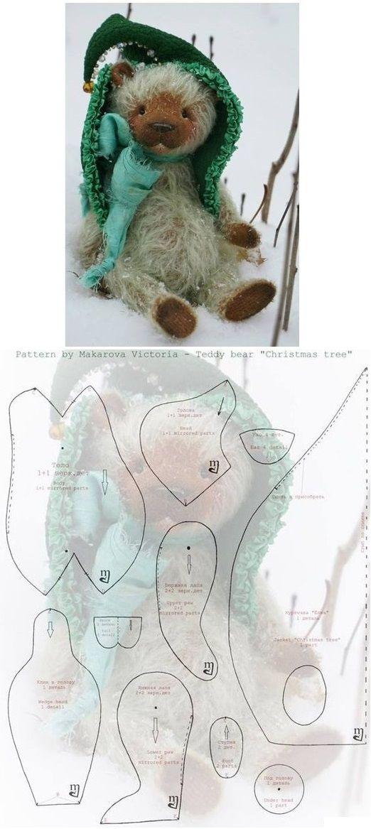 Christmas bear. Pattern by Makarova Victoria