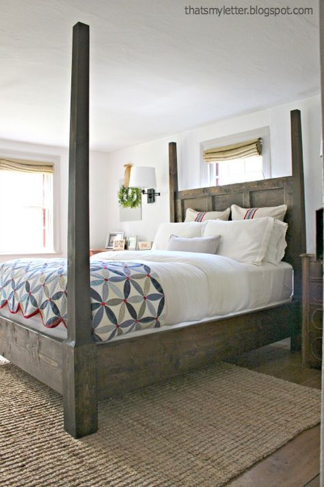 Ana White | Build a Dawsen Canopy or Poster Bed - Queen | Free and ...