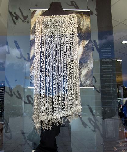 "Saw this beautiful ""korowai"" by Tania Tupu (Beaded Underworld Cloak) @ Te Papa museum shop in Wellington"