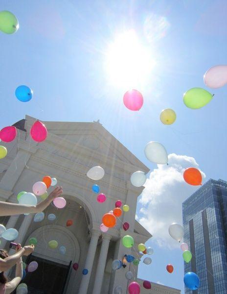 新潟市結婚式場 ブレストン バルーンリリース 人気 演出 アフターセレモニー