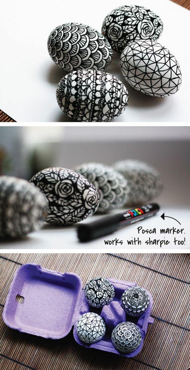 Dessiner afin de réaliser des œufs de Pâques très artistiques
