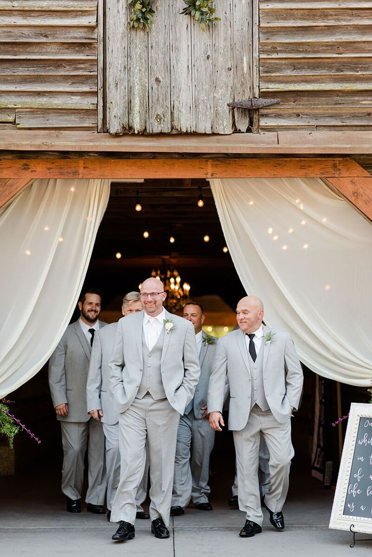 Rustic Chic Vineyard Wedding - Grey Groomsmen style