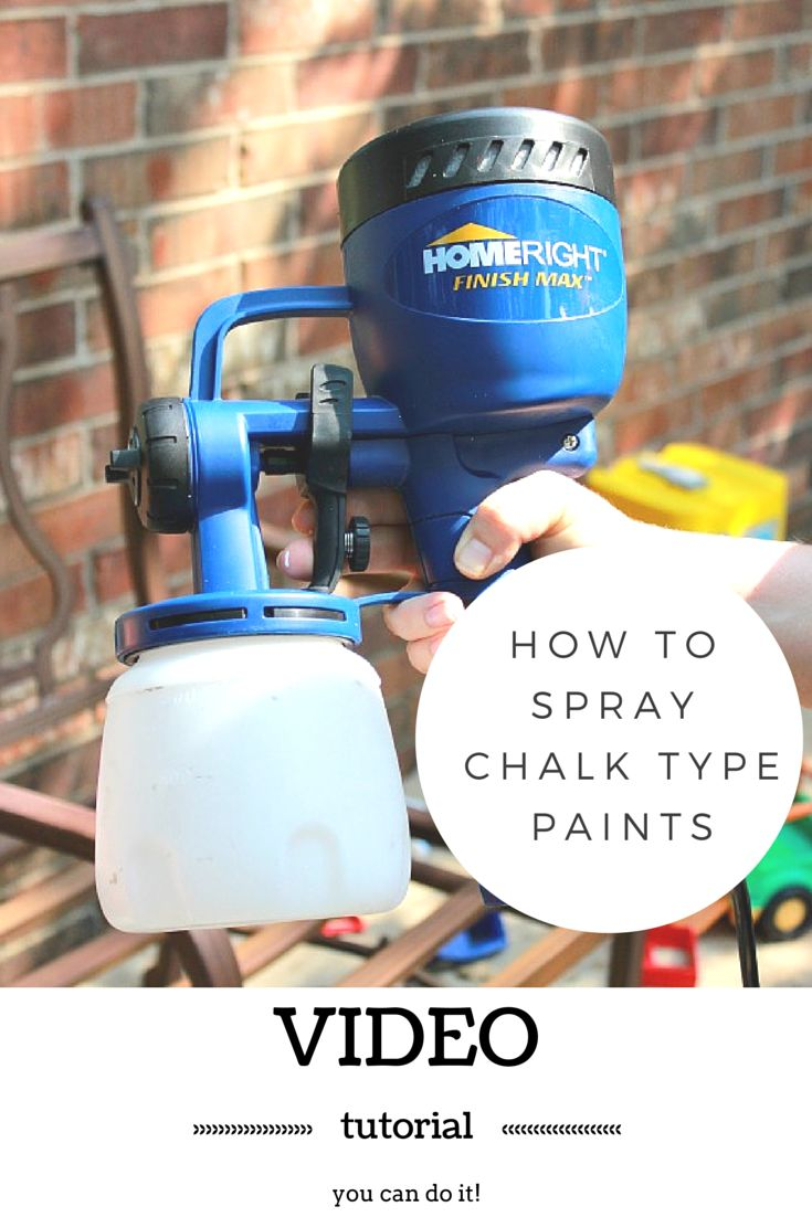 How to spray chalk type paints