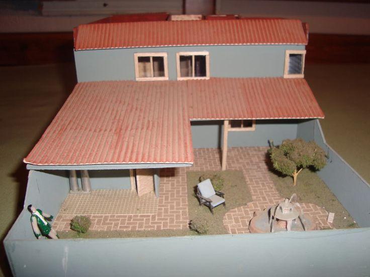 Maquetas casas de carton buscar con google proyectos - Como hacer una maqueta de una casa ...