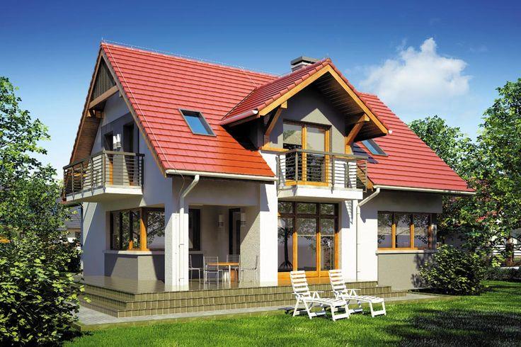 Dom jednorodzinny, parterowy z poddaszem użytkowym, dwustanowiskowym garażem i podpiwniczeniem