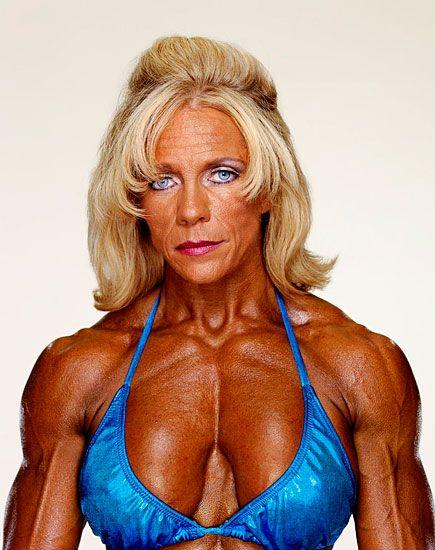 Vickie Nixon, photographed by Martin Schoeller  http://www.amazon.com/Female-Bodybuilders-Martin-Schoeller/dp/0976195534/