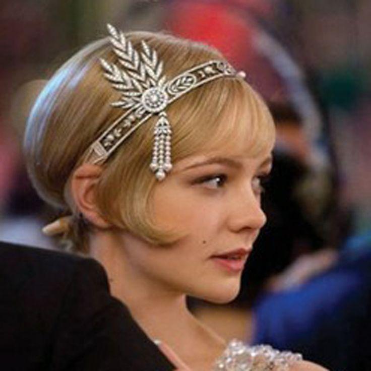 New wedding bridal grande gatsby charleston 1920 s dell'annata perle copricapo fascia superiore della perla testa capelli fascia vestito