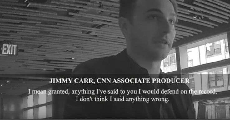 CNN associate producer Jimmy Carr is probably not a popular fellow on the set of New Day, CNN's also-ran of a morning show. Just a few days after unmasking the propaganda that drives CNN, another undercover video featuring the CNN employee has emerged with him bad-mouthing his New Day co-worker Chris Cuomo.