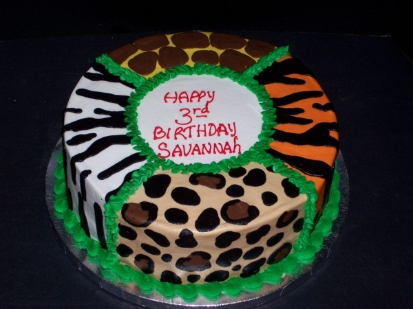 Animal Print cake for an end of year party in my classroom...all my prints!!!!