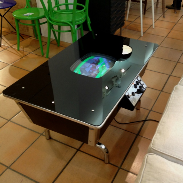 Missile Command U0026 Coffee: Retro CRT Video Game Table, At Coffee Table  Height.