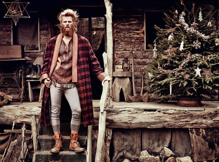For the record I don't condone long johns as outerwear for men, but I still like this outfit.