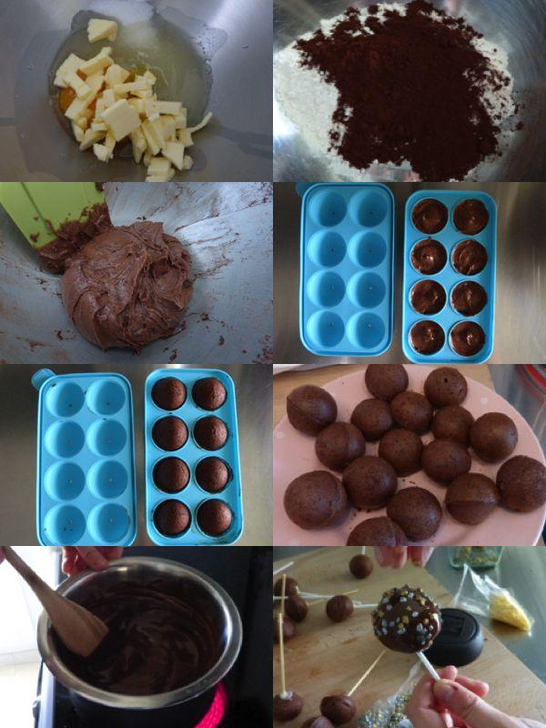 Cake Pops Tout Chocolat - moule en silicone - La Cuisine de Micheline