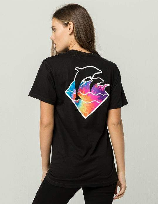 e3c6110d PINK DOLPHIN Tie Dye Womens Tee | | wants | | Mens tops, Pink ...