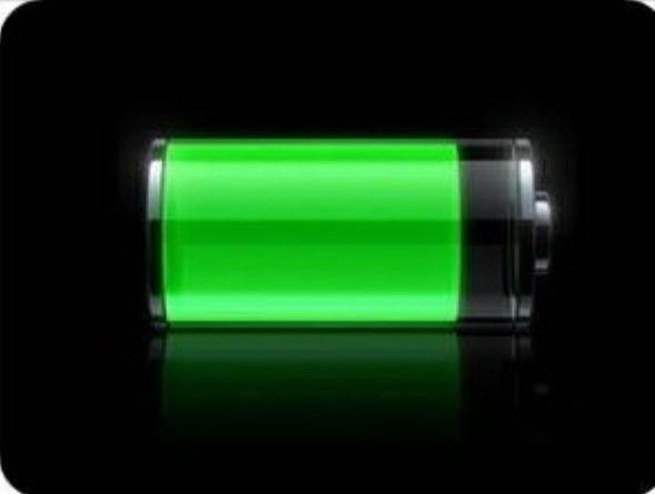 Reacción redox en batería recargable.