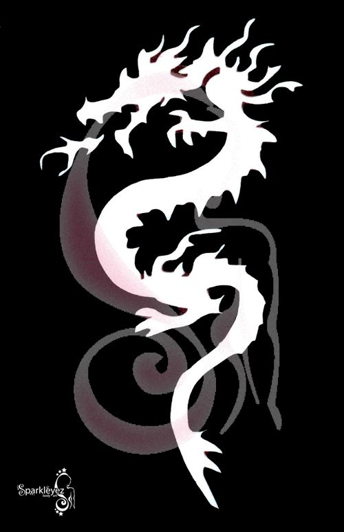 photo about Dragon Stencils Printable called Jap Dragon Stencil Dragon Stencil Dragons