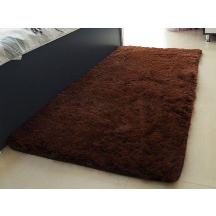 Мягкий твердых анти вязать небуксующий ковер ванная комната Flokati лохматый искусственная шерсть коврик коврик для гостиной # ZH182купить в магазине Jerry 's Fashion WorldнаAliExpress