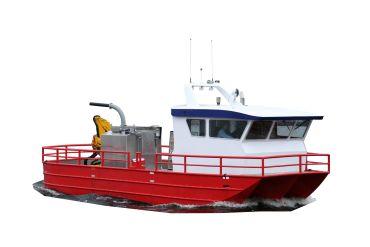 Boat workboat aluminium
