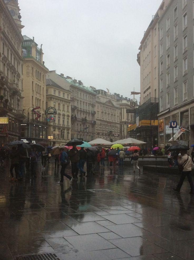 Rainy day in Vienna