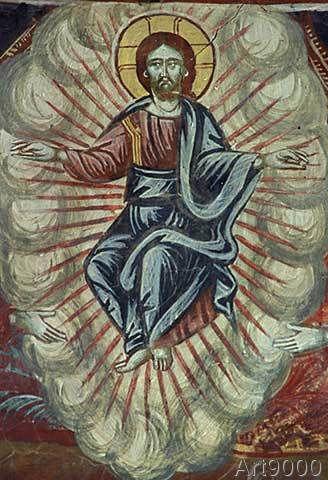 Fresko - Kalamíou / Ascension of Christ / Fresco