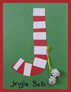 Letter J for Jingle Bells jingle all the with craft and activities!