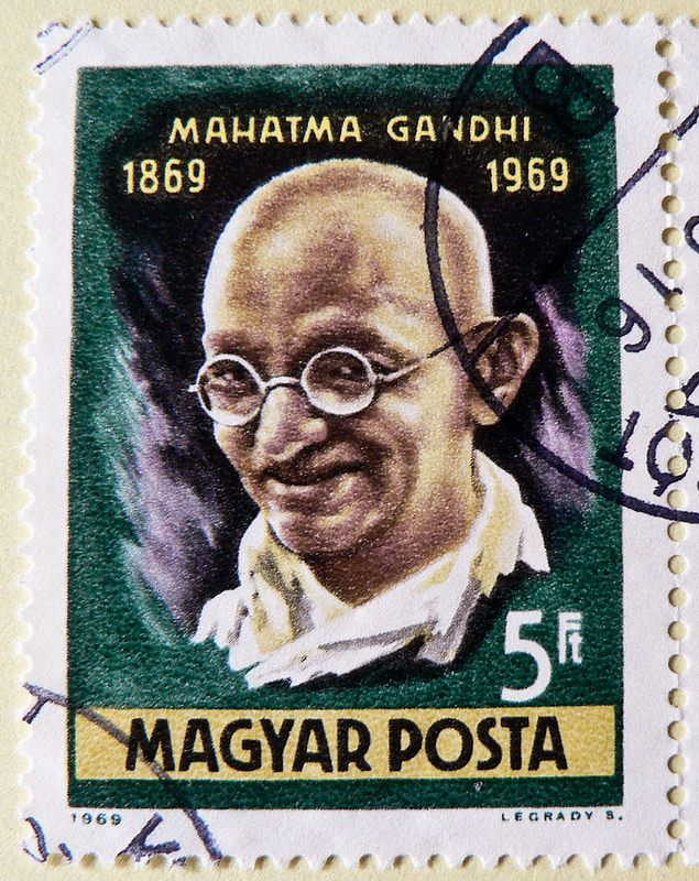 great stamp Magyar Posta 5ft (Mahatma Gandhi 1869-1948,  महात्मा गान्धी, Mohandas Karamchand Gandhi Gandhiji, Махатма Ганди) frimærker Ungarn Briefmarken postimerkkejä Unkari طوابع ختم هنغاريا postes timbres Hongrie postzegels Hongarije แสตมป์ ฮังการี
