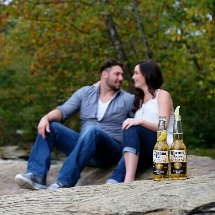 Corona engagement photos for a couple who owns a Beer Distributor 🍻