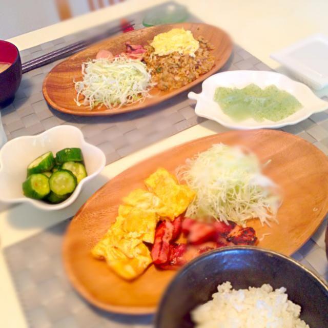 結局定番のおかずが安心との事 - 22件のもぐもぐ - リクエストの炊きたてご飯、お味噌汁、納得、卵焼きの黄金コンビ by akiyo22