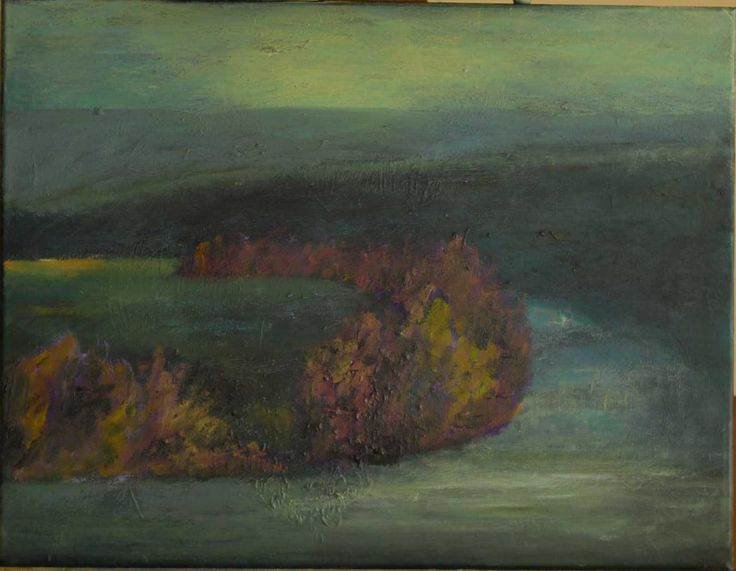 Bend in The Hawkesbury River at Dusk, September 2013. Oil on canvas. 30 x 24cm