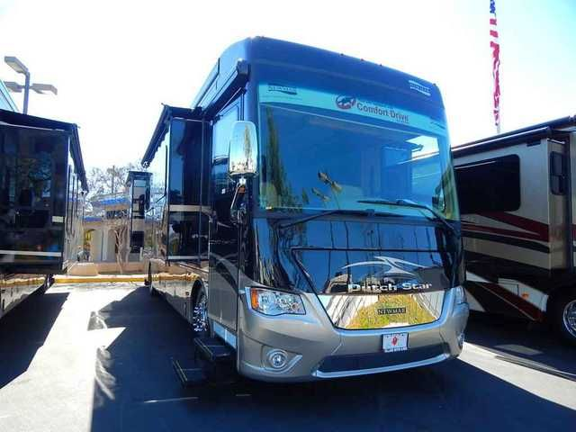 "2015 New Newmar 2015 Newmar Dutch Star 3736 Class A in California CA.Recreational Vehicle, rv, 2015 Newmar 2015 Newmar Dutch Star 3736, 2015 Newmar Dutch Star 3736, 2015 DS DP 3736 1/FS W/2 PSO, elec heat below floor tile, windshield protection, 2-15M Penguin heat pump, dash radio w/ navigation system, euro booth dinette, Maytag refr Pure sine 2 batt., Sirius radio capability, TV antenna w/power lift, 40"" LCD TV exterior sidewall, 40"" LED TV in front overhead, shower assist handle, heated…"
