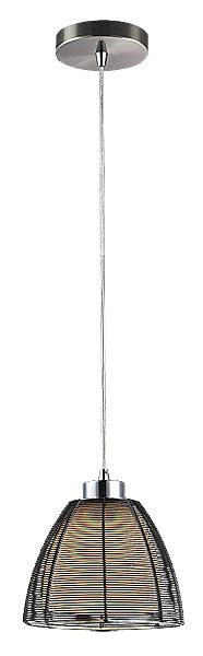 JAFAR - závesné svietidlo - čierny kov + sklo - ø 190mm