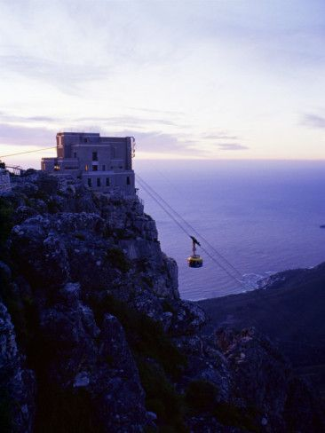 Cable Car Going up Table Mountain, Cape Town, South Africa