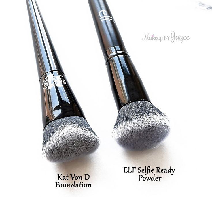 Kat+Von+D+Lock-It+Edge+Foundation+Brush+Dupe+ELF+Selfie+Ready+Powder.jpg (1600×1485)