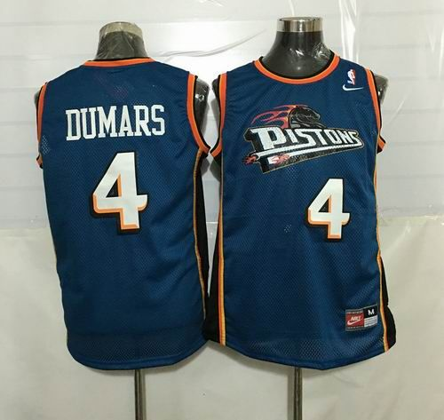Detroit Pistons #4 Joe Dumars Throwback Blue jerseys