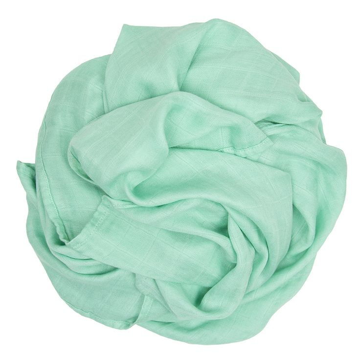 Bamboo Muslin Colours - Bright Mint