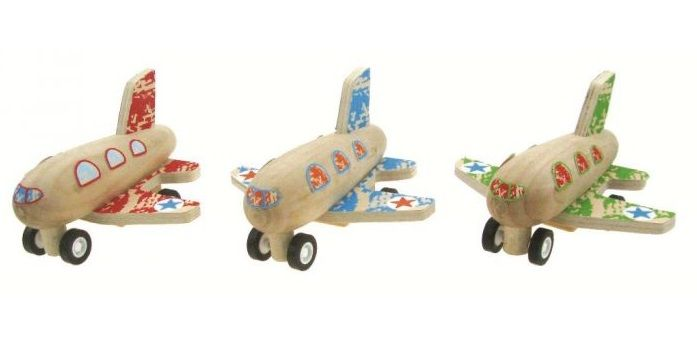 Wooden Pull Back Plane - $5.50 These gorgeous Wooden planes are a big hit at our house Pull back & they zoom away fast!! Available in Red, Blue or Green They measure 9cm long 18mths +