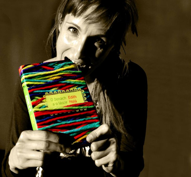 Ida Novotna with my novel.