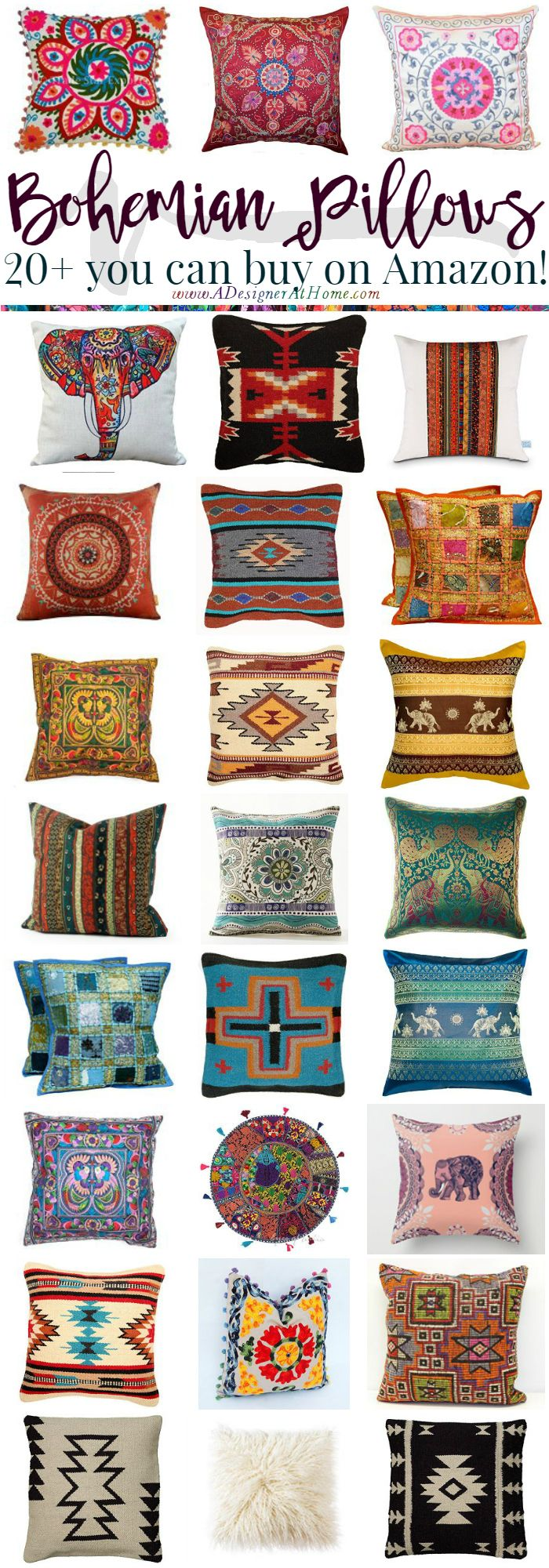 where to buy bohemian pillows