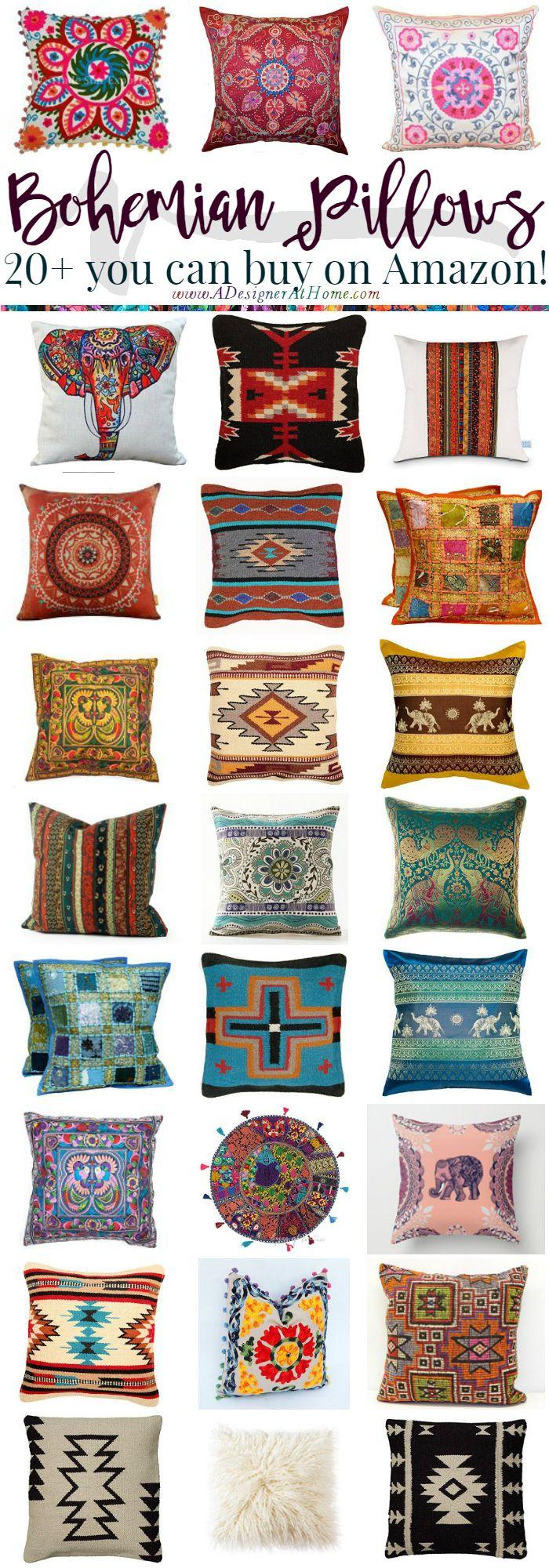 Where To Buy: Bohemian Pillows http://www.adesignerathome.com/where-to-buy-bohemian-pillows/