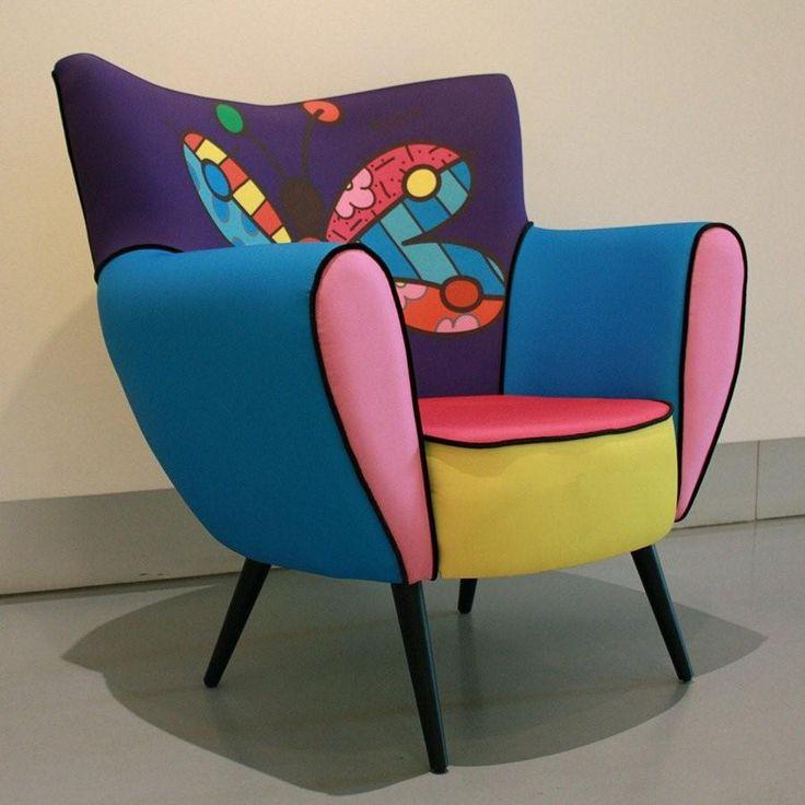 Romero Britto - Love this fun chair.   Bedroom?