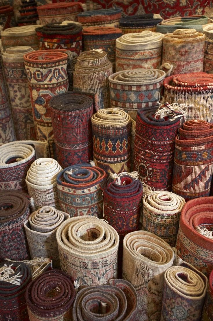 Grand Bazaar Istanbul - Rolls of carpets on sale in the bazaar  Read more: http://www.traveltherenext.com/explore/item/258-bazaar-bargain  #turkey #istanbul #grandbazaar #spicemarket #experience #interesting #travel #traveltherenext #shopping