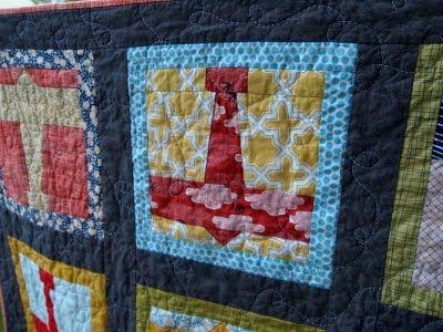 Airplane paper-pieced quilt blocks