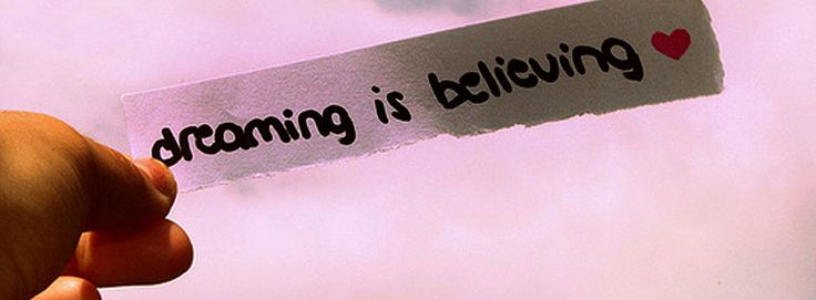 Latest FB Covers: Dreaming is Believing latest facebook cover