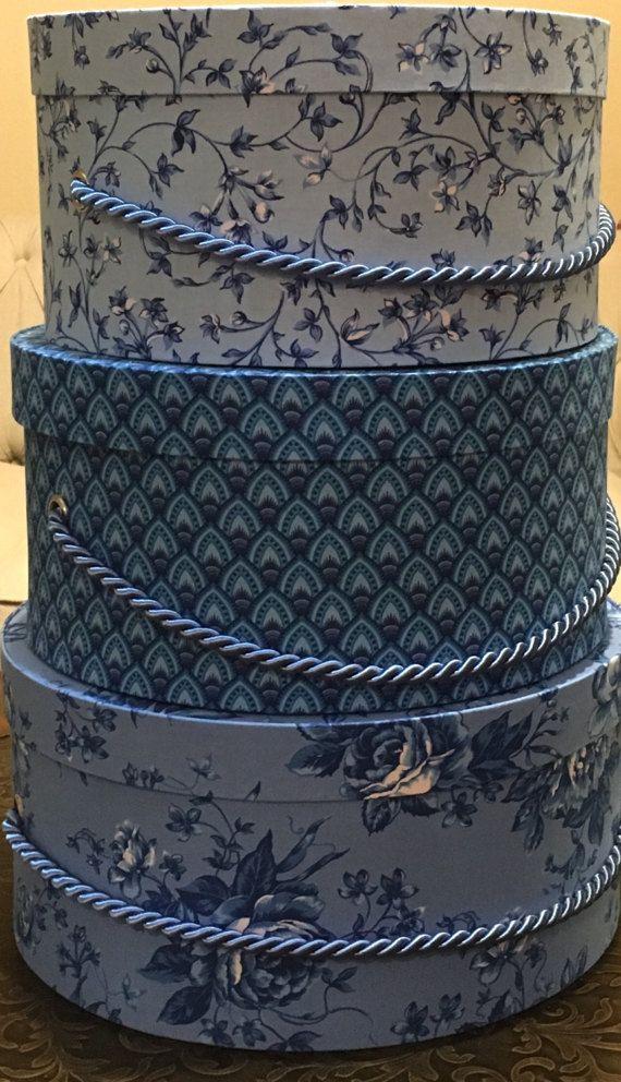 Custom Hat Box Gift Box Decorative Box by TheTeaberryCottage