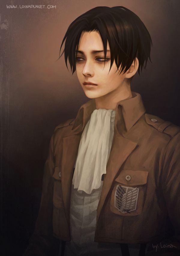 Tags: Anime, Realistic, Shingeki no Kyojin, Rivaille, Pixiv Id 7841812