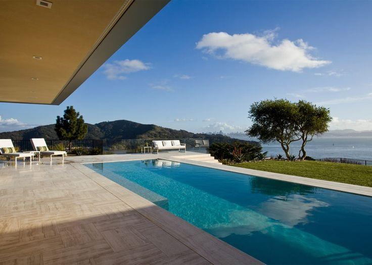 Pool in Garai House by Swatt Miers Architects