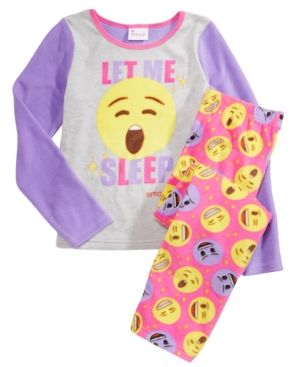 Emoji 2-Pc. Emoji Let Me Sleep Pajama Set,Little Girls (4-6X) & Big Girls (7-16) - Assorted 10